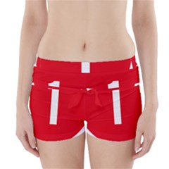 New Zealand State Highway 1 Boyleg Bikini Wrap Bottoms