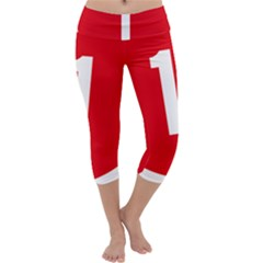 New Zealand State Highway 1 Capri Yoga Leggings