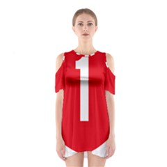 New Zealand State Highway 1 Cutout Shoulder Dress