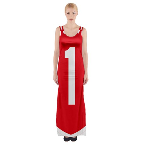 New Zealand State Highway 1 Maxi Thigh Split Dress