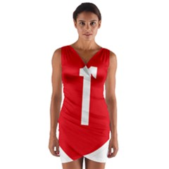 New Zealand State Highway 1 Wrap Front Bodycon Dress