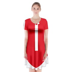 New Zealand State Highway 1 Short Sleeve V Neck Flare Dress