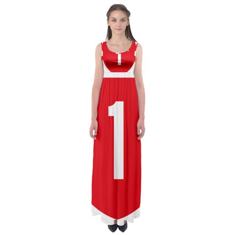 New Zealand State Highway 1 Empire Waist Maxi Dress