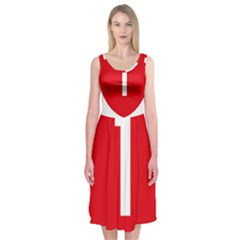 New Zealand State Highway 1 Midi Sleeveless Dress