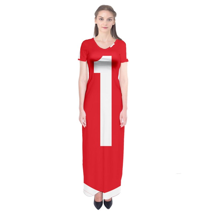 New Zealand State Highway 1 Short Sleeve Maxi Dress