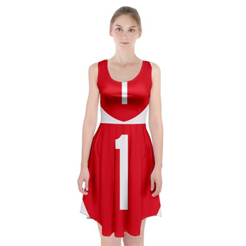 New Zealand State Highway 1 Racerback Midi Dress