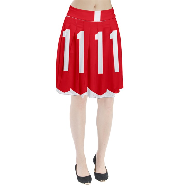 New Zealand State Highway 1 Pleated Skirt