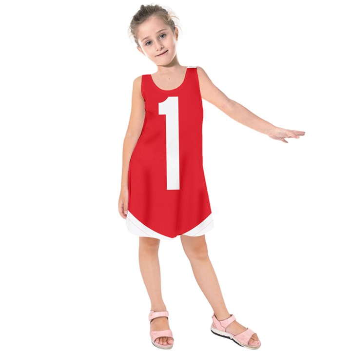 New Zealand State Highway 1 Kids  Sleeveless Dress