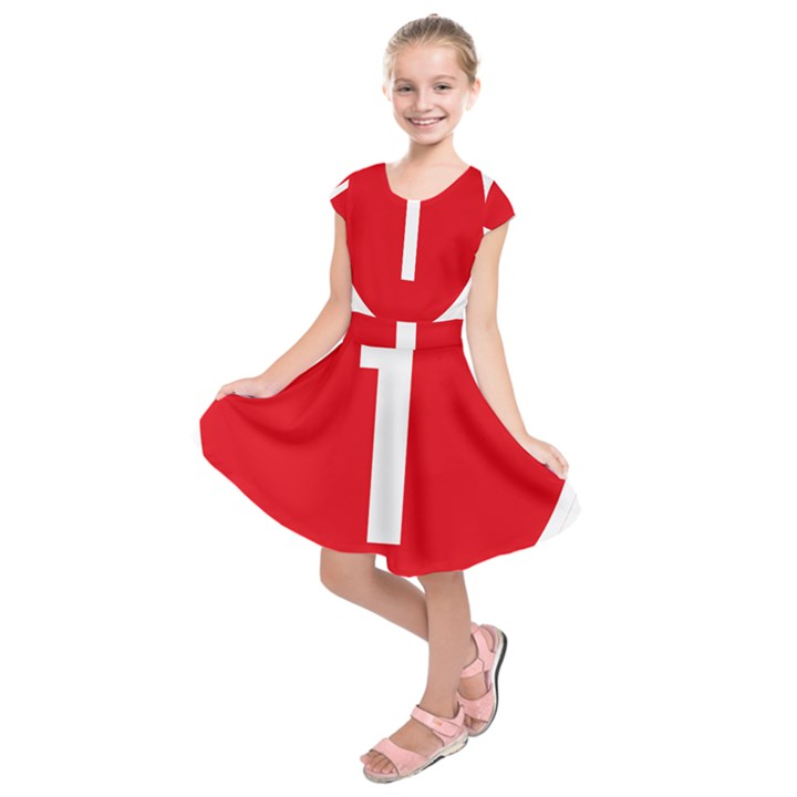 New Zealand State Highway 1 Kids  Short Sleeve Dress