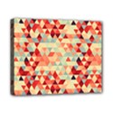 Modern Hipster Triangle Pattern Red Blue Beige Canvas 10  x 8  View1