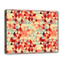 Modern Hipster Triangle Pattern Red Blue Beige Canvas 14  x 11  View1
