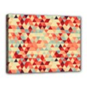 Modern Hipster Triangle Pattern Red Blue Beige Canvas 16  x 12  View1