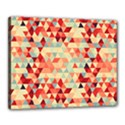 Modern Hipster Triangle Pattern Red Blue Beige Canvas 20  x 16  View1