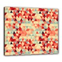 Modern Hipster Triangle Pattern Red Blue Beige Canvas 24  x 20  View1