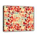Modern Hipster Triangle Pattern Red Blue Beige Deluxe Canvas 20  x 16   View1