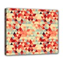 Modern Hipster Triangle Pattern Red Blue Beige Deluxe Canvas 24  x 20   View1