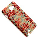 Modern Hipster Triangle Pattern Red Blue Beige Samsung Galaxy Note 1 Hardshell Case View5