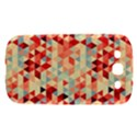 Modern Hipster Triangle Pattern Red Blue Beige Samsung Galaxy S III Hardshell Case  View1