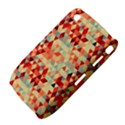 Modern Hipster Triangle Pattern Red Blue Beige Curve 8520 9300 View4