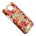 Modern Hipster Triangle Pattern Red Blue Beige HTC One X Hardshell Case  View5