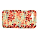 Modern Hipster Triangle Pattern Red Blue Beige HTC Rhyme View1