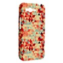 Modern Hipster Triangle Pattern Red Blue Beige HTC Rhyme View2