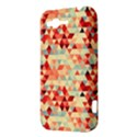 Modern Hipster Triangle Pattern Red Blue Beige HTC Rhyme View3