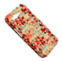 Modern Hipster Triangle Pattern Red Blue Beige HTC Rhyme View5