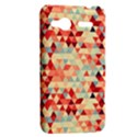 Modern Hipster Triangle Pattern Red Blue Beige HTC Radar Hardshell Case  View2