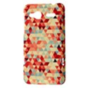 Modern Hipster Triangle Pattern Red Blue Beige HTC Radar Hardshell Case  View3