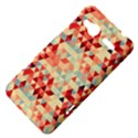 Modern Hipster Triangle Pattern Red Blue Beige HTC Radar Hardshell Case  View4
