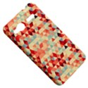 Modern Hipster Triangle Pattern Red Blue Beige HTC Radar Hardshell Case  View5