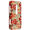 Modern Hipster Triangle Pattern Red Blue Beige HTC Evo 3D Hardshell Case  View2