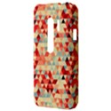 Modern Hipster Triangle Pattern Red Blue Beige HTC Evo 3D Hardshell Case  View3