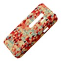 Modern Hipster Triangle Pattern Red Blue Beige HTC Evo 3D Hardshell Case  View4
