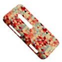 Modern Hipster Triangle Pattern Red Blue Beige HTC Evo 3D Hardshell Case  View5