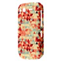 Modern Hipster Triangle Pattern Red Blue Beige HTC Desire S Hardshell Case View3