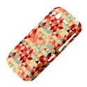 Modern Hipster Triangle Pattern Red Blue Beige HTC Desire S Hardshell Case View4
