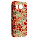 Modern Hipster Triangle Pattern Red Blue Beige HTC Desire HD Hardshell Case  View2