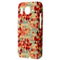 Modern Hipster Triangle Pattern Red Blue Beige HTC Desire HD Hardshell Case  View3