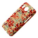Modern Hipster Triangle Pattern Red Blue Beige HTC Desire HD Hardshell Case  View4