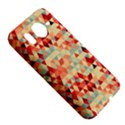 Modern Hipster Triangle Pattern Red Blue Beige HTC Desire HD Hardshell Case  View5