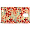 Modern Hipster Triangle Pattern Red Blue Beige Samsung Infuse 4G Hardshell Case  View1