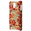 Modern Hipster Triangle Pattern Red Blue Beige Samsung Infuse 4G Hardshell Case  View3