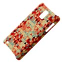 Modern Hipster Triangle Pattern Red Blue Beige Samsung Infuse 4G Hardshell Case  View4