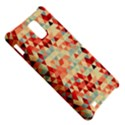 Modern Hipster Triangle Pattern Red Blue Beige Samsung Infuse 4G Hardshell Case  View5
