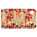 Modern Hipster Triangle Pattern Red Blue Beige Samsung Galaxy S i9000 Hardshell Case  View1