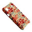 Modern Hipster Triangle Pattern Red Blue Beige Samsung Galaxy S i9000 Hardshell Case  View5