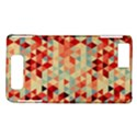 Modern Hipster Triangle Pattern Red Blue Beige Motorola DROID X2 View1