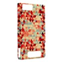 Modern Hipster Triangle Pattern Red Blue Beige Motorola DROID X2 View2